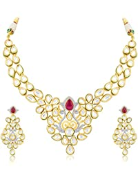Sukkhi Traditionally Fusion Gold Plated CZ Necklace Set For Women