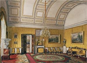 The High Quality Polyster Canvas Of Oil Painting 'Hau Edward Petrovich,The First Reserved Apartment,The Yellow Salon Of Grand Princess Maria Nikolayevna,1866' ,size: 20x28 Inch / 51x70 Cm ,this Best Price Art Decorative Canvas Prints Is Fit For Living Roo