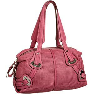 B. MAKOWSKY St Tropez Perforated Satchel :  leather satchel handbag perforated bags