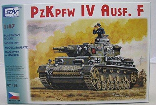 Modellbau-Kunststoff-Modellbausatz-Militaer-SDV-187-H0-Deutscher-Panzer-IV-Ausfhrung-F-Kampfpanzer