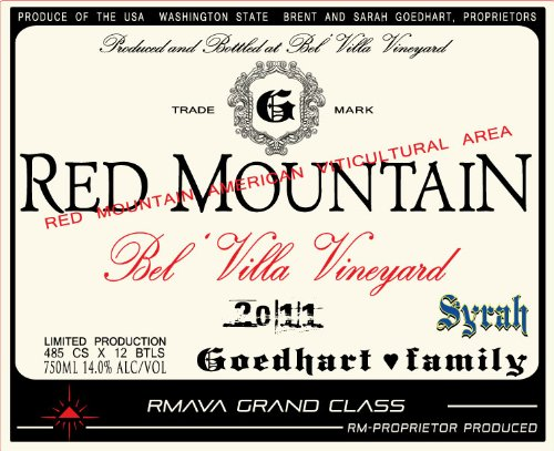 2011 Goedhart Family Red Mountain Syrah 750Ml