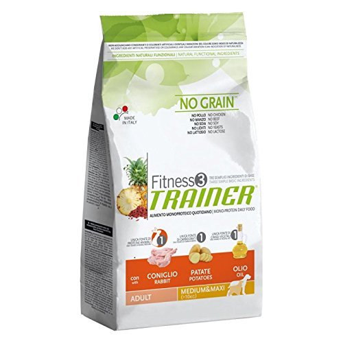 Trainer Fitness 3 Adult Medium/Maxi No Grain Coniglio&Patate 12,5 KG