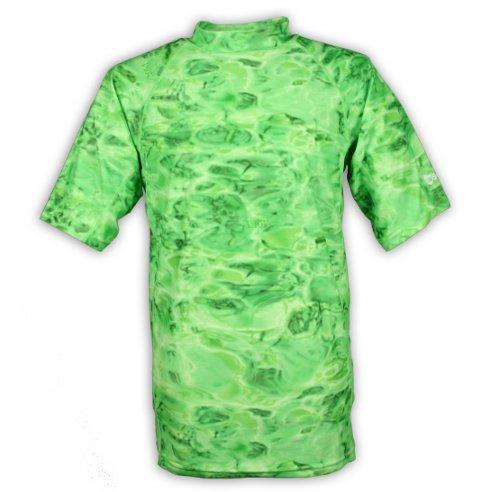 Loose Fit Women's Rash Guard UPF 50+ UV Protection Surf Swim Shirt Rashie Short Sleeve Rashguard Tee | Lime Ripple