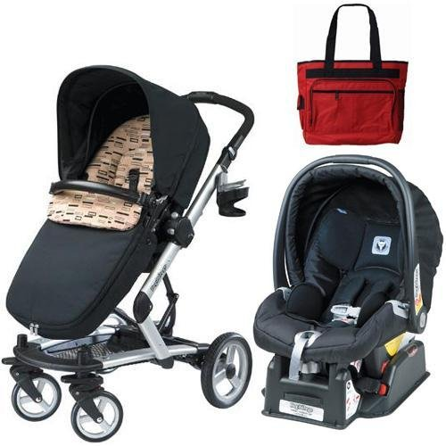 stroller and carseat combo good price peg perego skate travel system with diaper bag black. Black Bedroom Furniture Sets. Home Design Ideas