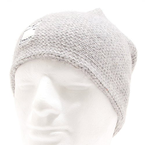 6983O Gorro BULLISH grigio chiaro scaldacollo- cappello hat-neckwarmer [Taglia unica]
