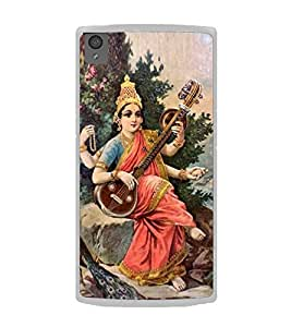 Maa Saraswati 2D Hard Polycarbonate Designer Back Case Cover for OnePlus X :: One Plus X :: One+X
