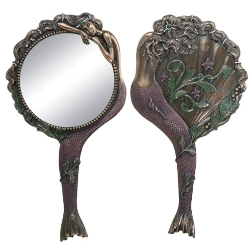 Galleon art nouveau collectible mermaid hand mirror for Art nouveau decoration