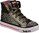 Skechers Rock N Beauty Twinkle Toes Denim/Turq girls