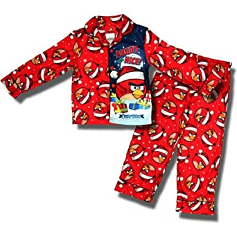 Angry Birds Boys Sizes 4-10 Angry but Nice Christmas Pajamas (8)