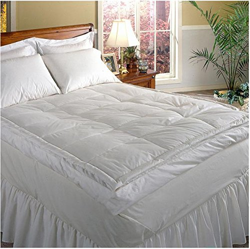 New Luxurious Down-top Baffle Box 5-inch Gusset Feather Bed. Rest in Luxurious Comfort. Excellent Pr...