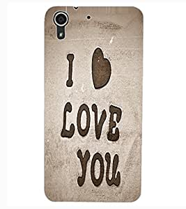 ColourCraft Love Quote Design Back Case Cover for HTC DESIRE 626S