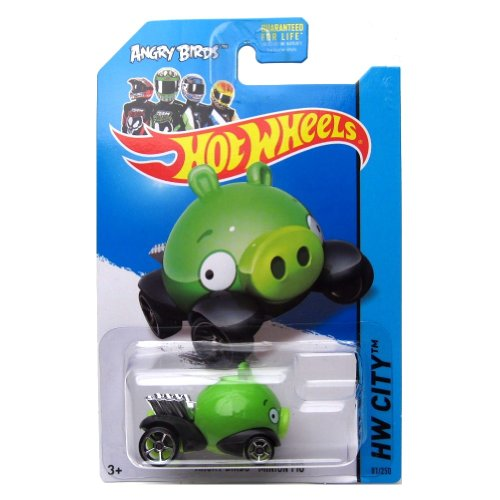 Angry Birds Minion Pig '14 Hot Wheels 81/250 (Green) Vehicle