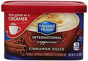 Maxwell House International Coffee Cinnamon Dulce Cappuccino, 9.1-Ounce Packages (Pack of 4)