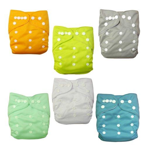 alva-baby-6pcs-pack-pocket-washable-adjustable-cloth-diapers-nappies-12-inserts-netural-color6bm98-e
