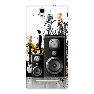 Impressive Music Comp Multicolor Back Case Cover for Sony Xperia C3
