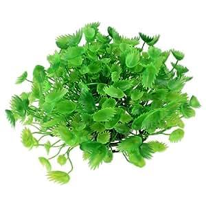 Fish Tank Aquarium Ornament Green Emulational Plastic Plant 11Wide
