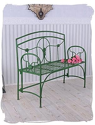 Gartenbank Jugendstil Eisen Sitzbank Antik Stil Garten Bank Grün PALAZZO EXCLUSIV von PALAZZO INT - Gartenmöbel von Du und Dein Garten