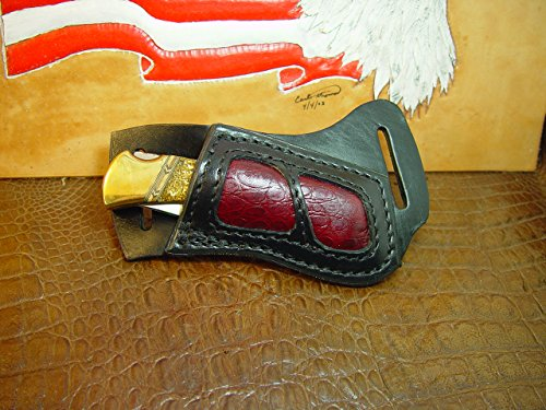 custom-right-hand-cross-draw-knife-sheath-for-the-buck-110-with-alligator-print-leather