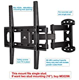 Mounting Dream MD2377 TV Wall Mount Bracket with Full Motion Articulating Arm for most 26-55 Inches LED, LCD and Plasma TVs up to VESA 400x400mm and 66 LBS, with Tilt, Swivel, and Leveling Adjustment