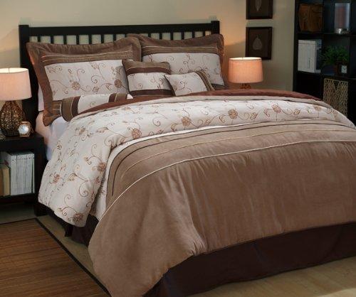 Nanshing America Duena Microsuede 7-Piece Comforter Set, Queen