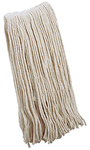 100% Cotton Wet Mop Heads, 4 Ply, Wide Band, Universal Headband Fits Both Side-loading and Clamp-style Handles (#12) (Gas Station Lightning compare prices)
