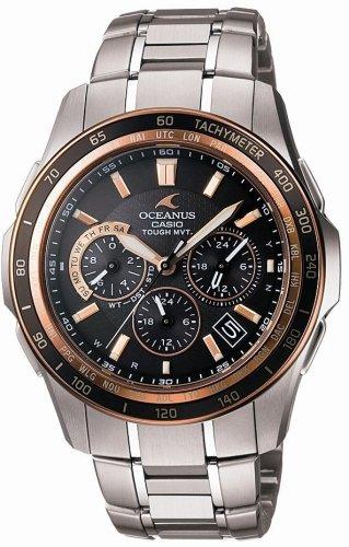 CASIO (カシオ) 腕時計 OCEANUS オシアナス Manta マンタ タフソーラー 電波時計 TOUGH MVT MULTIBAND6 OCW-S1200G-1AJF メンズ