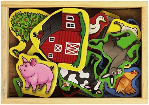 Melissa & Doug - Imanes de madera con granja (19279)