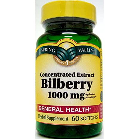 Отзывы Spring Valley Softgels Bilberry, 60 Softgels/1000 mg