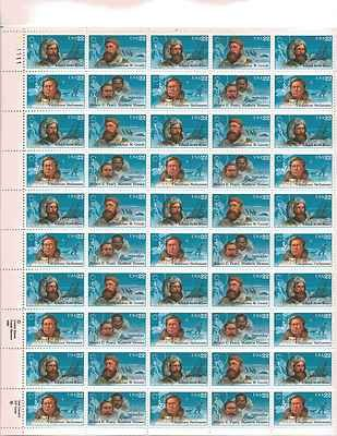 Arctic Explorers Sheet of 50 x 22 Cent US Postage Stamps NEW Scot 2220-23