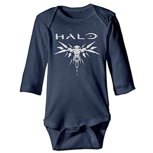 [HYRONE Halo Logo Baby Bodysuit Long Sleeve JumpSuit Romper Size 24 Months Navy] (Halo Spartan Suit For Sale)