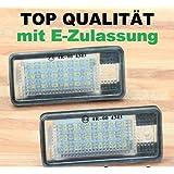 KFZTEILESCHNELLVERSAND24 Éclairage de plaque minéralogique à LED pour Audi A3 8P - A4 B6 B7 - A6 4F - Q7