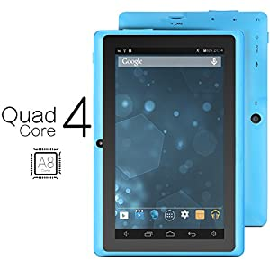 ProntoTec Axius Series Q9 7 Inch Android 4.4 KitKat Tablet PC, 800 x 480 Pixels Cortex A8 Quad Core Processor, 4GB ROM, Dual Camera, G-Sensor, Google Play Pre-loaded -Blue
