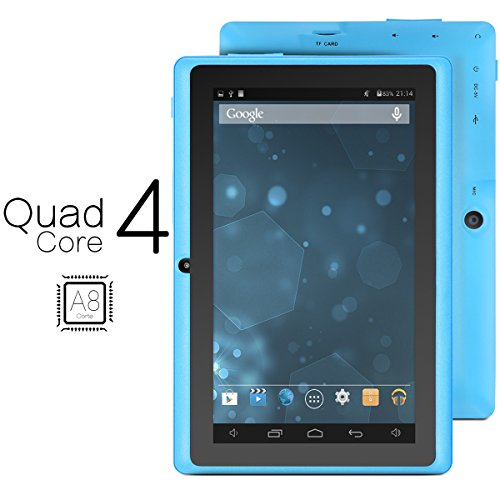 ProntoTec Axius Series Q9 7 Inch Quad Core Android 4.4 KitKat Tablet PC, 800 x 480 Pixels Cortex A8 Processor, 4GB ROM, Dual Camera, G-Sensor, Google Play Pre-loaded -Blue (2015 New Model)