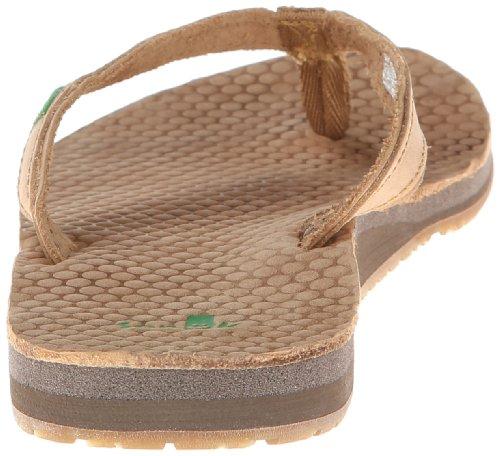Sanuk Women's Spritzer Leather Flip Flop,Tan,7 M US