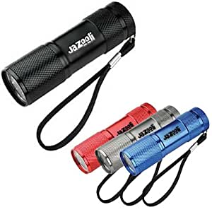 Jazooli Super Bright 9 LED Mini Torch Flashlight Light - Black