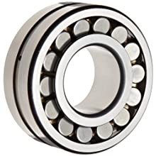 FAG E1 Series Spherical Roller Bearing, Double Row, Reinforced Roller Set, Straight Bore, Roller Guided Brass Cage, Normal Clearance, Metric