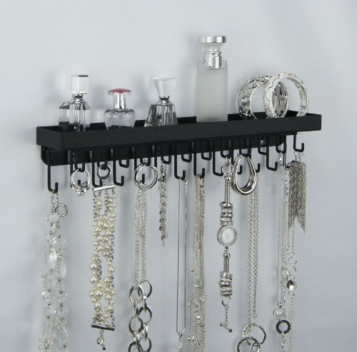 Wall Mount Necklace Holder Hanging Jewelry Organizer