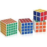 Lujex 5x5x5, 4x4x4, 3x3x3 und 2x2x2 Rubiks Würfel Zauberwürfel Rubik's Cube Set