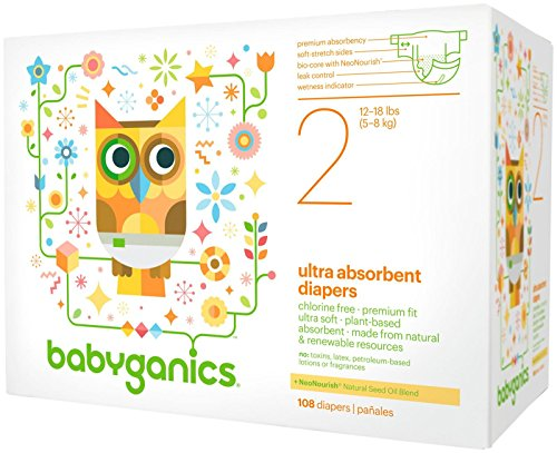 Babyganics Diapers-Size 2-36 Count - 1