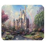 Mystic Zone Disney Castle Rectangle Mouse Pad (Black) - MZM00198