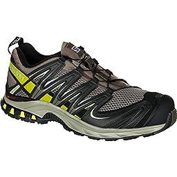 Salomon Men\'s XA Pro 3D M+ Trail Running Shoe,Swamp/Dark Titanium/Seaweed Green,13 W US