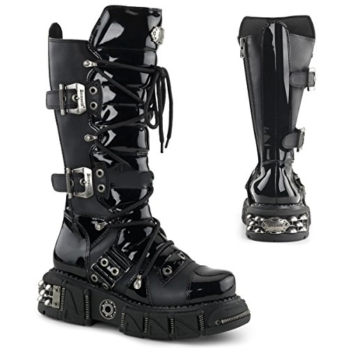 Demonia DMA-3006 - scarpe gotiche metallo punk Industrial stivali ranger 39-46, US-Herren:EU-41/42 (US-M9)
