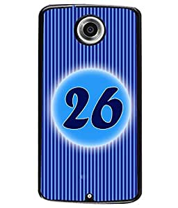 Fuson 2D Printed Numerology Designer back case cover for Motorola Google Nexus 6 - D4246