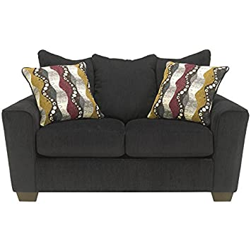 Benchcraft Brogain Loveseat in Ebony Chenille
