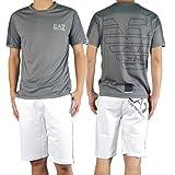(エンポリオアルマーニ)EMPORIO ARMANI EA7 メンズクルーネックTシャツ 273575 4P236 グレー [並行輸入商品]