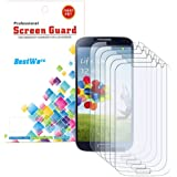 6X Film Protection Galaxy S4 Tranparent, Protection d'écran Pour Samsung S4 Ultra Clear Bestwe