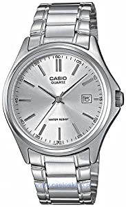 Casio Women's Core MTP1183A-7A Silver Stainless-Steel Quartz Watch with Silver Dial