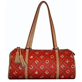 Dooney & Bourke Purse Handbag Barrel Bag Cherry