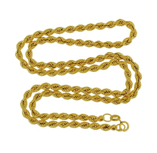 9ct Yellow Gold 70 Hollow Rope 51cm