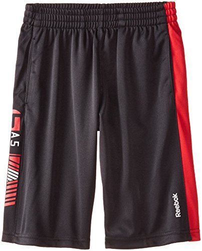 Reebok Big Boys' Boy Blocked Short, Black, Medium